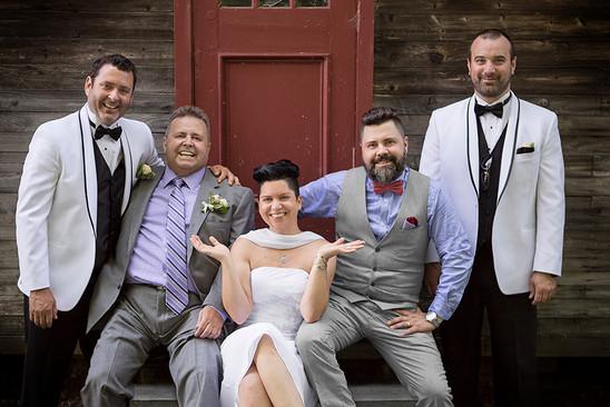 Les hommes à l'honneurs! Mariage Éric & Mélanie © niesim