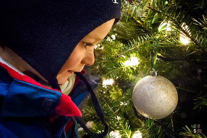 La magie des fêtes ! Quartier Petit Champlain, Québec, Canada ©