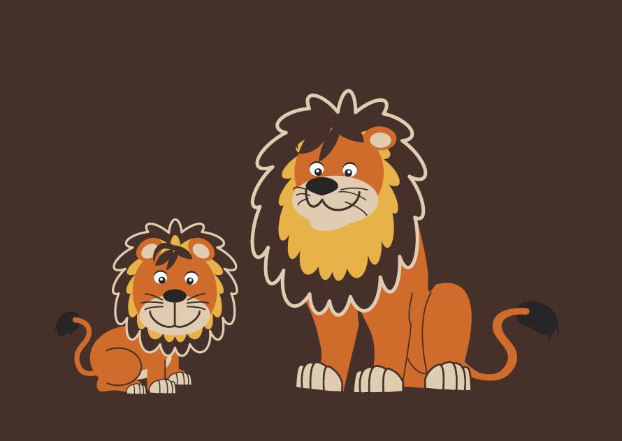 illustration de lions pour enfants