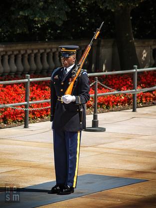 La relève de la garde au Cimetière National Militaire d'Arlington, Washington DC, USA © niesim