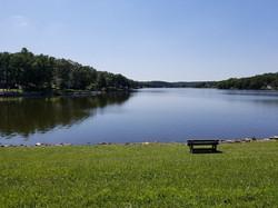 Bench by Lake Ann