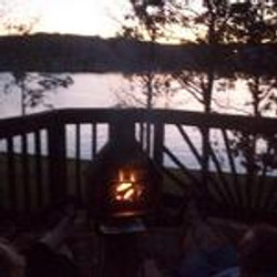 Chiminea by the lake