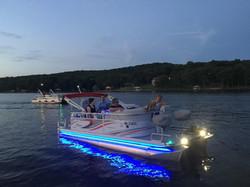 Evening pontoon ride