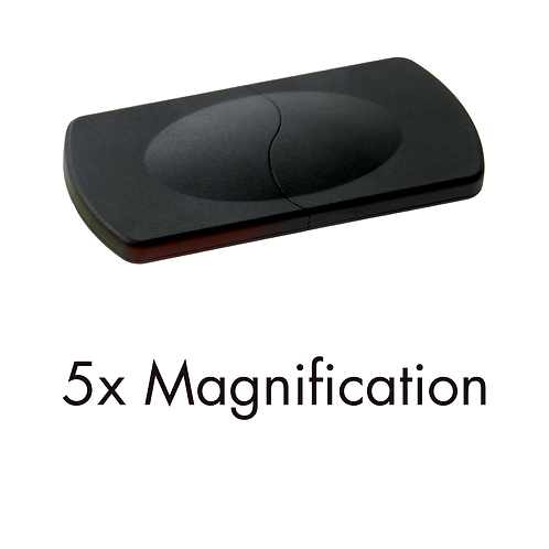 6262/01 (5x) Black Sliding Pocket Magnifiers