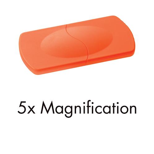 6262/04 (5x) Orange Sliding Pocket Magnifier