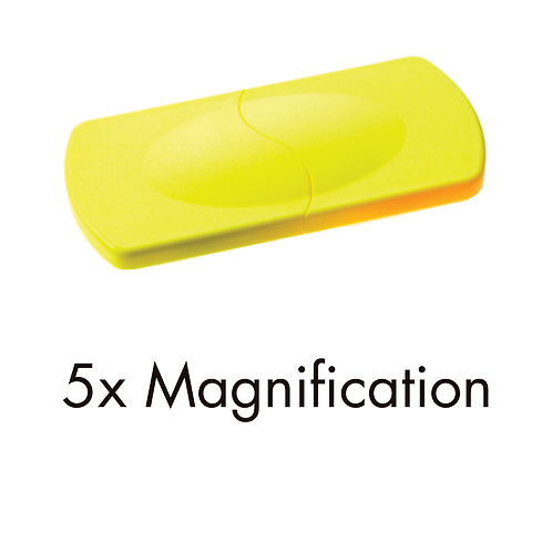 6262/03 (5x) Yellow Sliding Pocket Magnifier