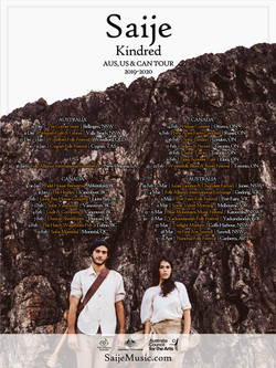 Saije - Kindred Tour Poster (2019-2020)