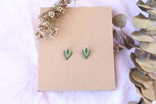 Green Clover Earrings