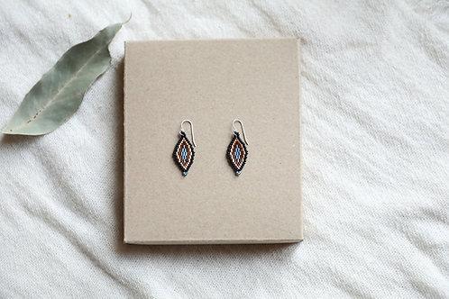 Blue Zinnia Earrings