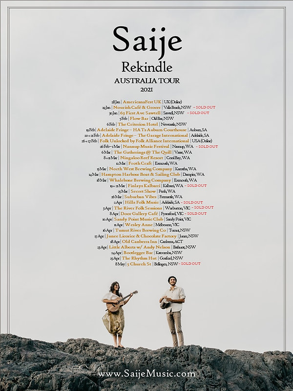 Saije - Tour Poster (2021) Release 10.jp