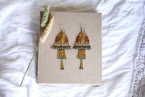 Golden Eagle Earrings