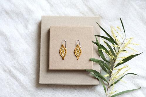 Golden Zinnia Earrings