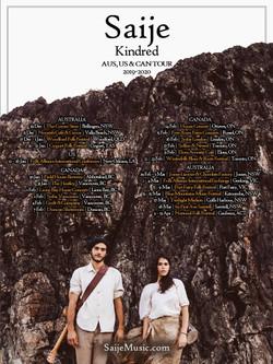 Saije - AUS, US, CAN Tour Poster (2019