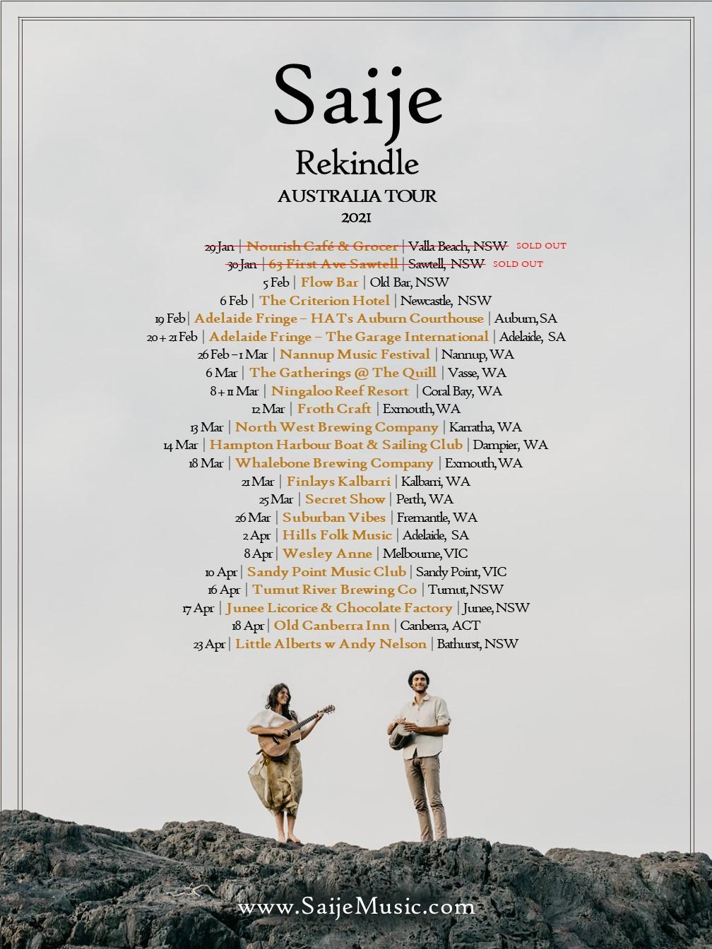 Saije - Tour Poster (2021) Release 3