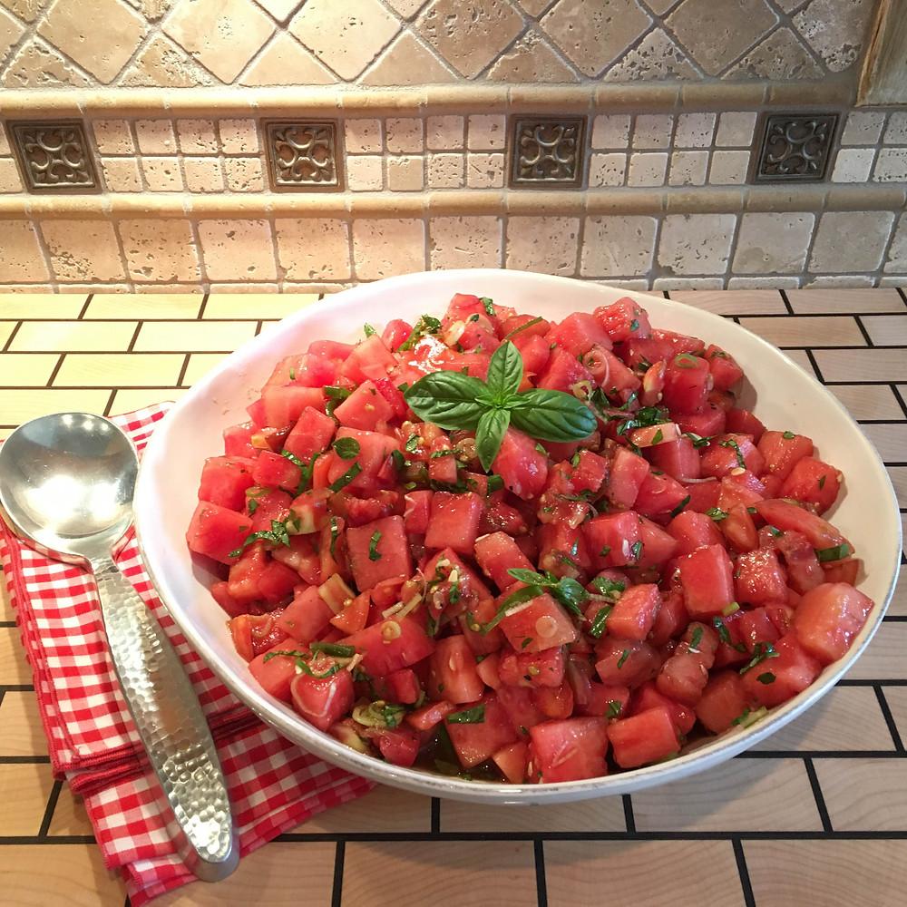 Tomato Watermelon Salad | Meals by Marsha