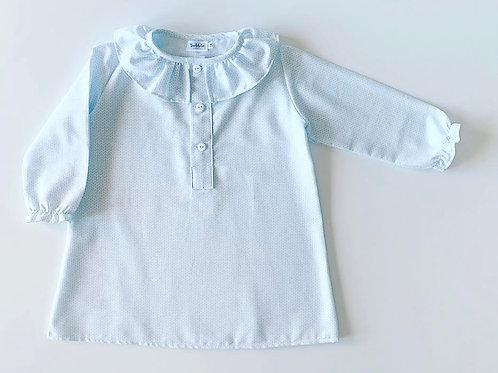 Camisa de noite espigas azuis