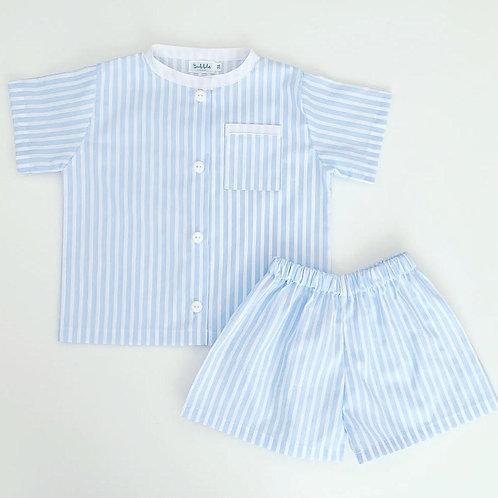 Pijama risca azuis