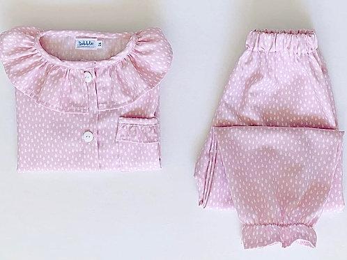 Pijama gotinhas cor-de-rosa