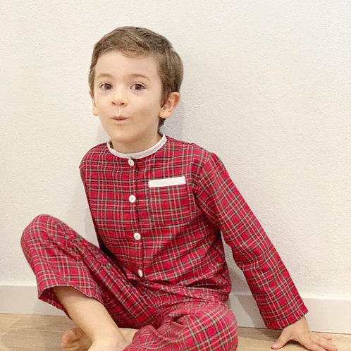 pijama xadrez de Natal
