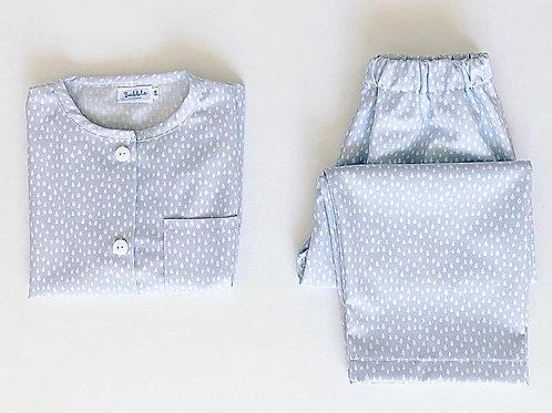 Pijama azul com gotinhas
