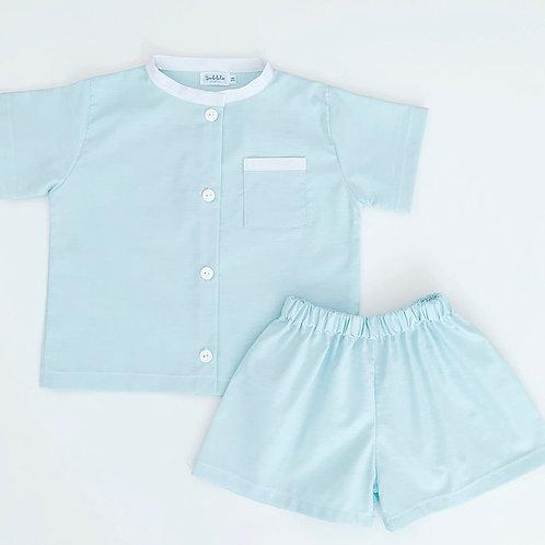 Pijama verde-água
