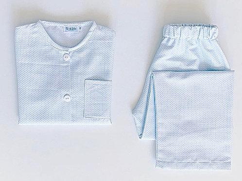 Pijama espigas azuis