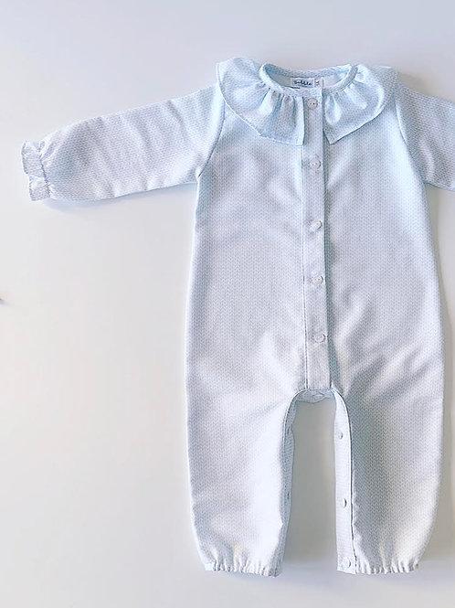 Pijama inteiro espigas azuis