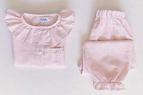 Pijama espigas cor-de-rosa