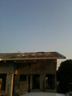 הגג מוכן לכיסוי ברעפים