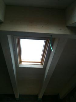 חלון גג מבט מבפנים