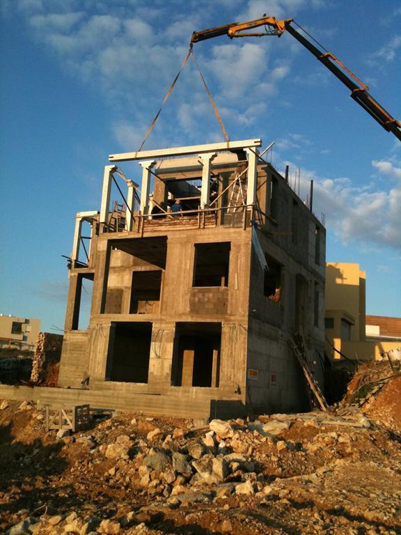 בניית התקרה