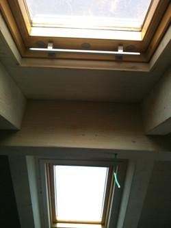 חלונות בגג מראה מתוך הבית