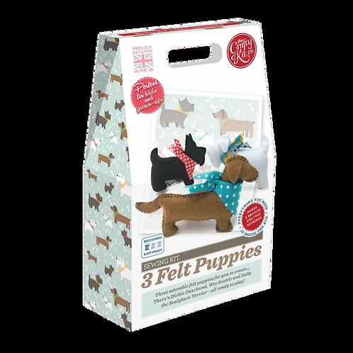 Felting Kit - Three Puppies