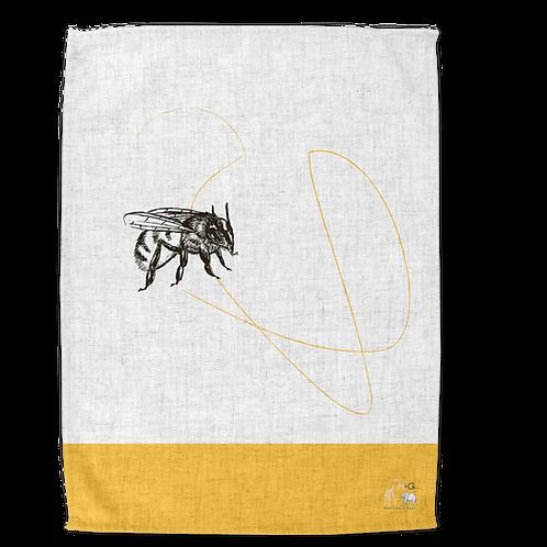 Mustard & Grey Tea Towel