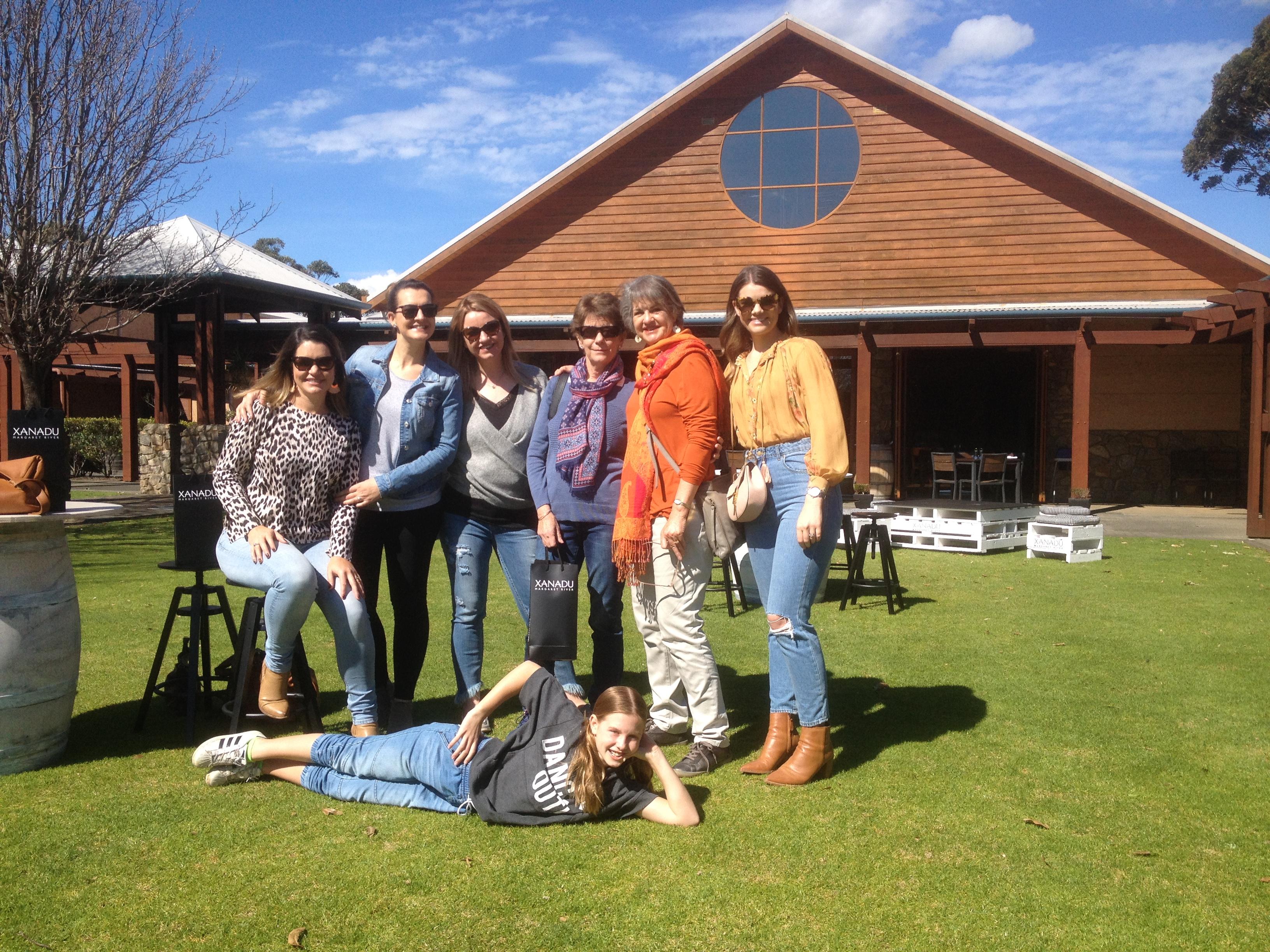 Family wine tasting tour