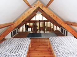 Mezzanine twin bedroom