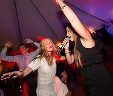 Fishbowl performs at a wedding