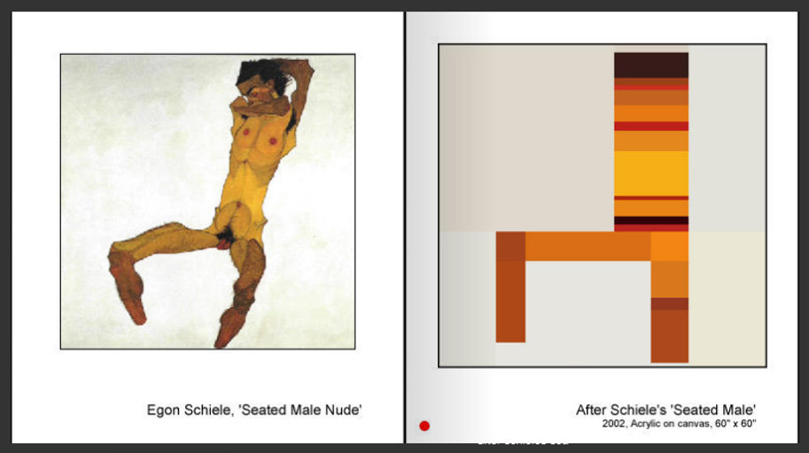 Sevan Melikyan, After Schiele's 'Seated Male'