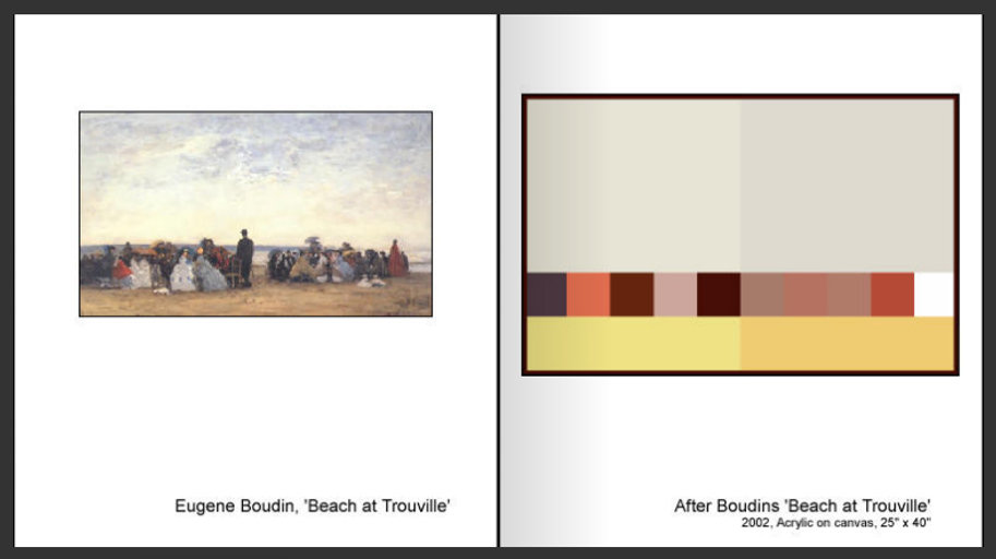 After Boudin's 'Beach at Trouville'