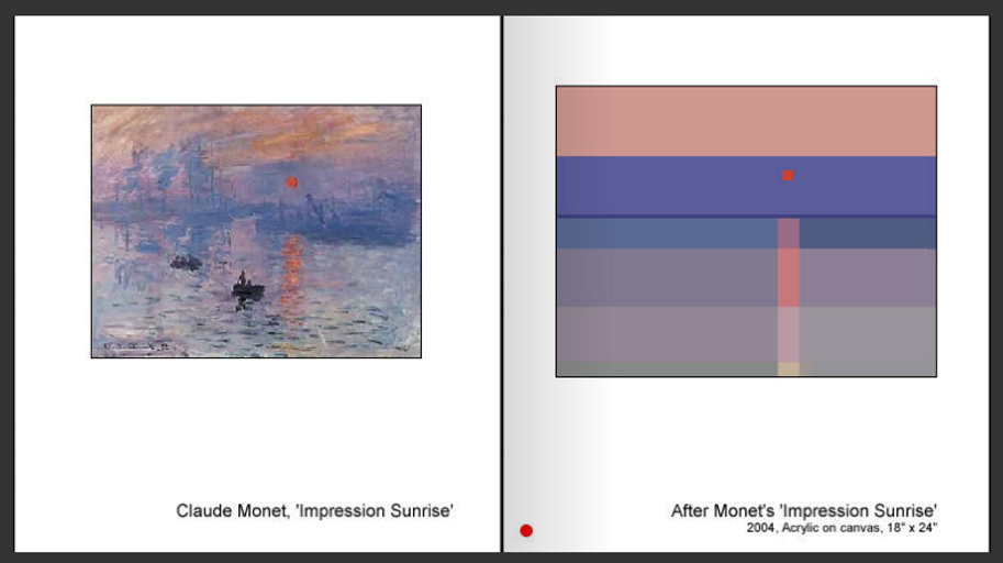 Sevan Melikyan, After Monet's 'Impression Sunrise'