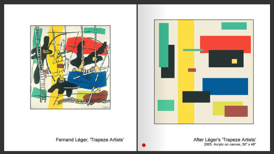Sevan Melikyan, After Leger's 'Trapeze Artists'
