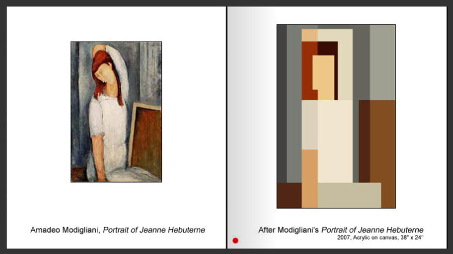 Sevan Melikyan, After Modigliani's 'Portrait of Jeanne Hebuterne'