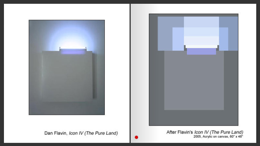 Sevan Melikyan, After Flavin's 'Icon IV (The Pure Land)'