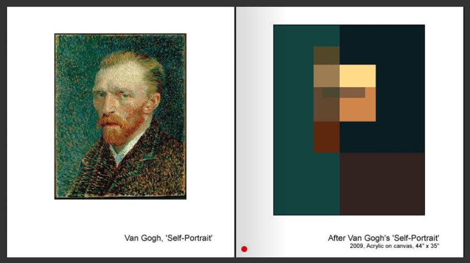 Sevan Melikyan, After van Gogh's 'Self-portrait'