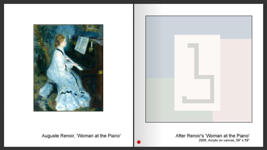 Sevan Melikyan, After Renoir's 'Woman at the Piano'