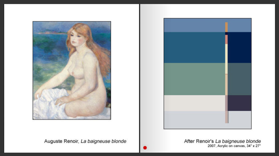 Sevan Melikyan, After Renoir's 'La beigneuse blonde'