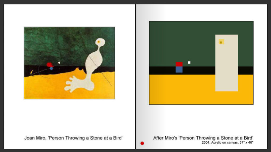 Sevan Melikyan, After Miro's 'Personne Throwing a Stone at a Bird'