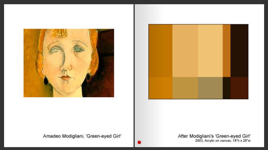 Sevan Melikyan, After Modigliani's 'Green-eyed Girl'