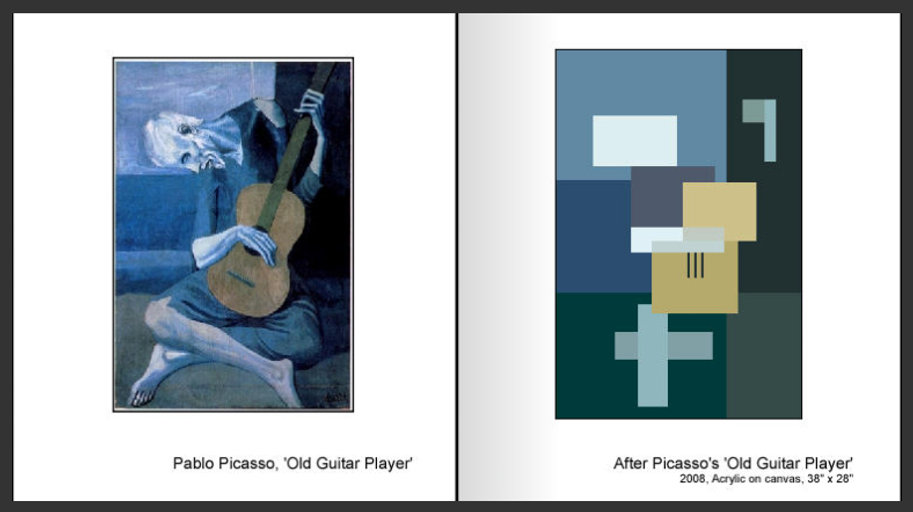 Sevan Melikyan, After Picasso's 'Old Guitar Player'