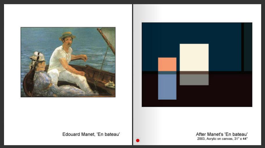 Sevan Melikyan, After Manet's 'En bateau'